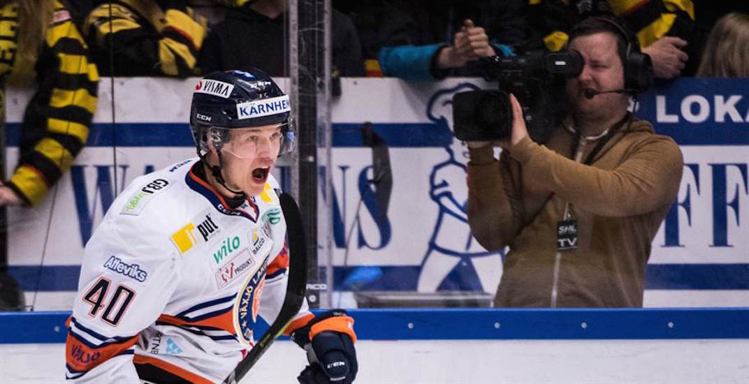Canucks prospect Elias Pettersson named playoff MVP after record-setting performance in SHL Final