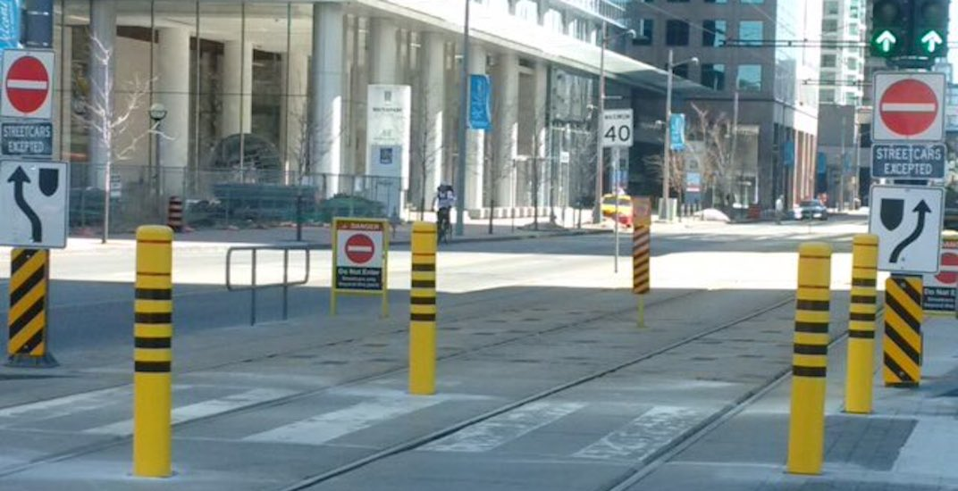 TTC takes more steps to stop drivers from entering Queens Quay streetcar tunnel