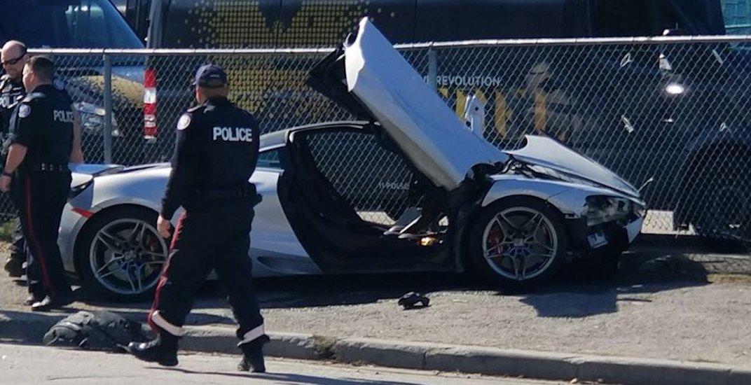 Unlicensed driver crashes $300,000 McLaren in Toronto (VIDEO)