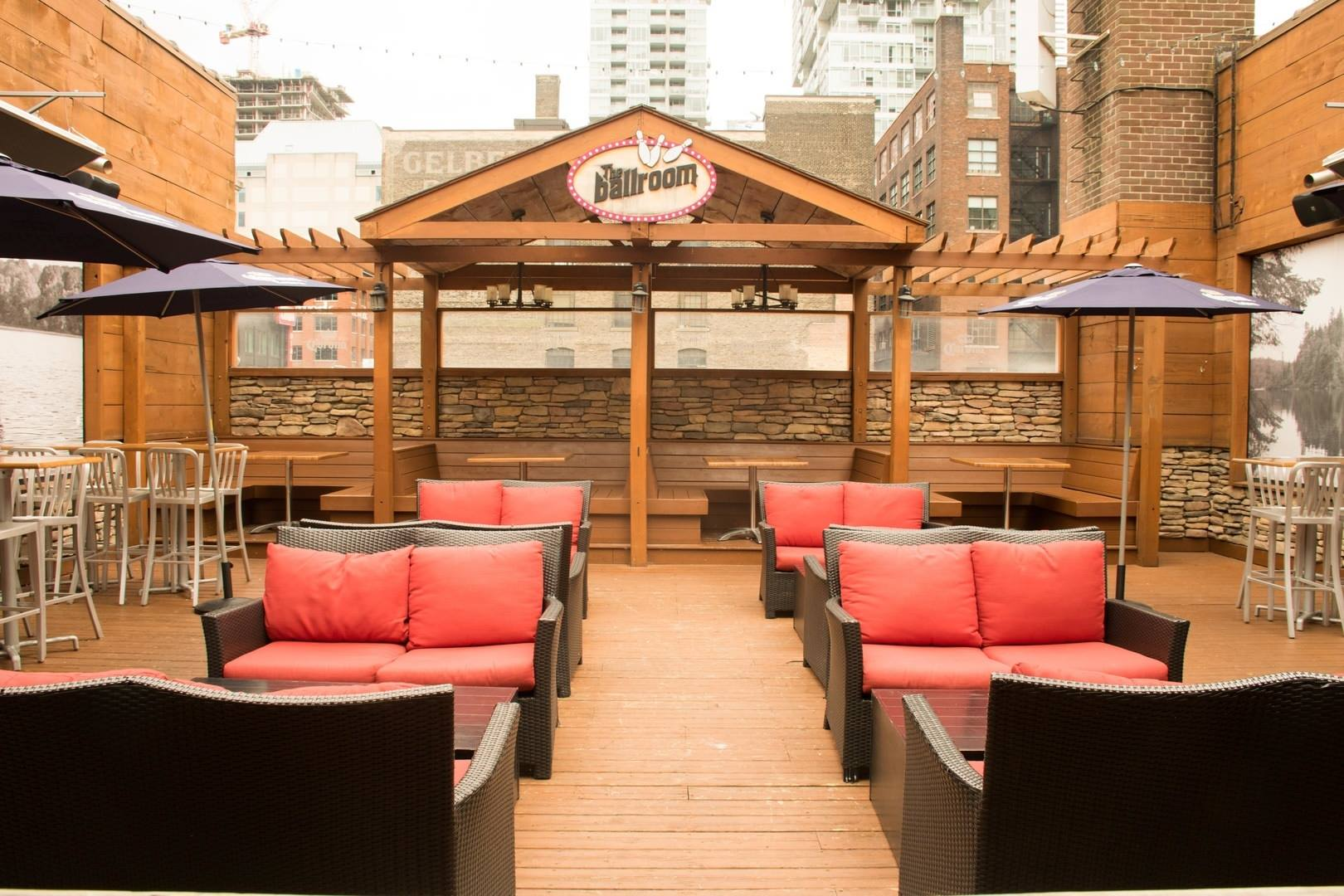 The Ballroom Bowl patio rooftop