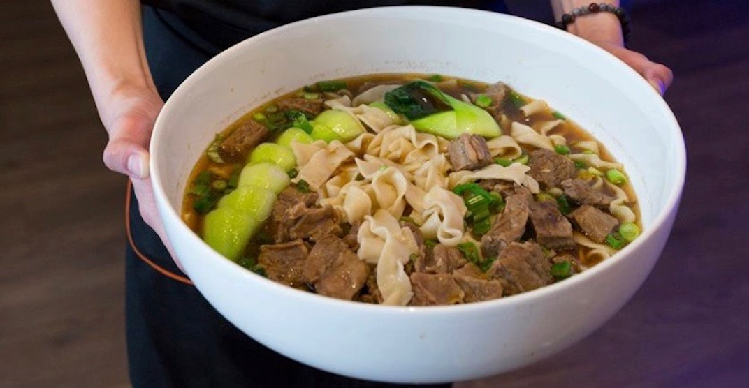 New colossal dish biggest Taiwanese beef noodle in Metro Vancouver