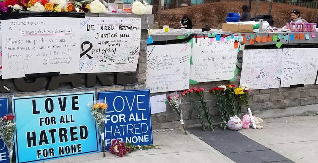 Memorial growing in Yonge and Finch area for victims of Toronto van attack