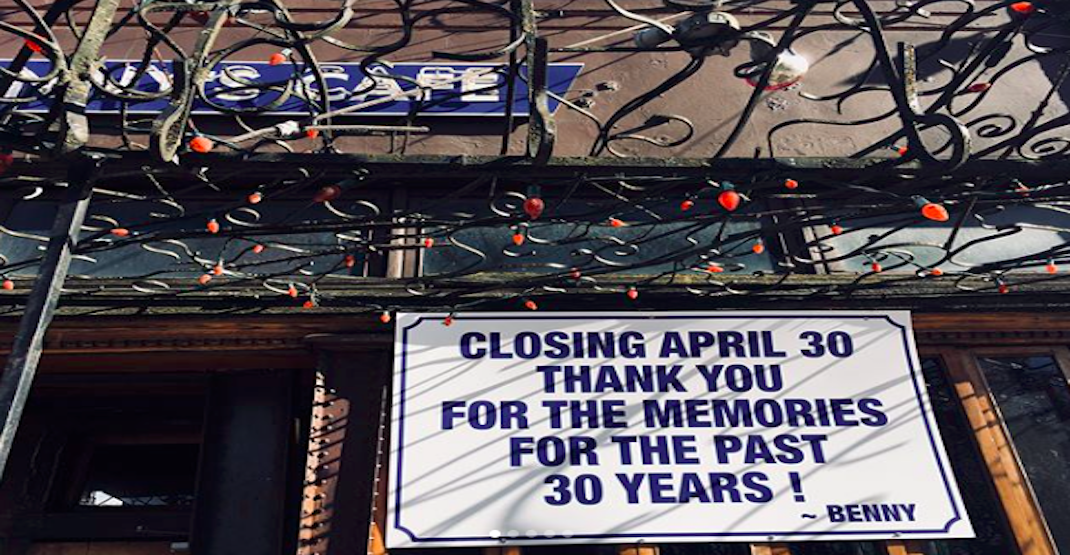 End of an era: Staple of Vancouver's food scene closes its doors