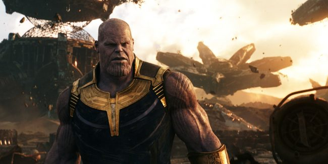 Josh Brolin as Thanos in Infinity War