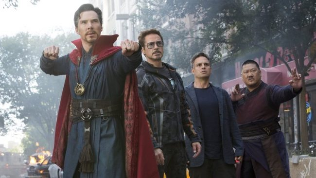 Doctor Strange and Iron Man team up in Infinity War.