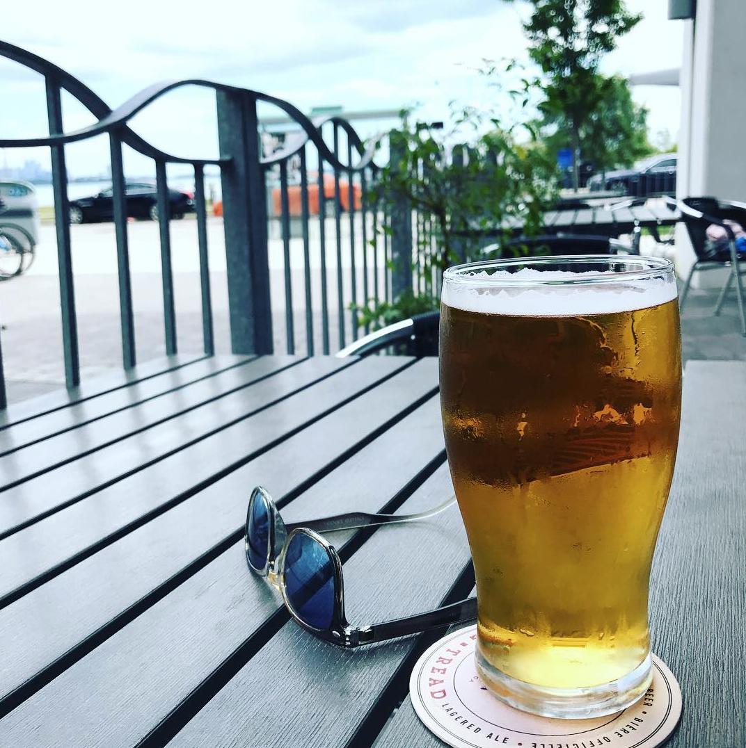 Firkin on the Bay beer patio