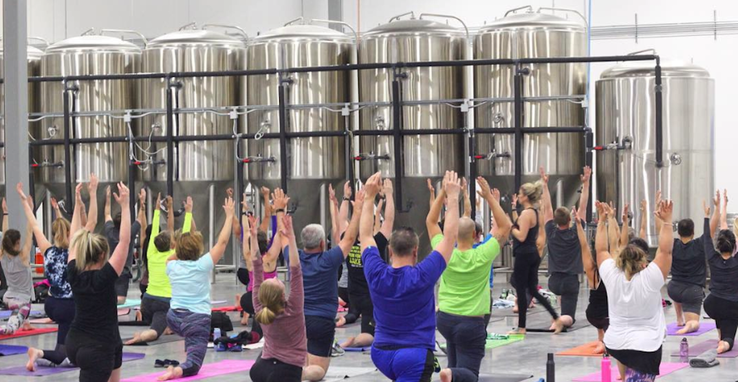 This Calgary brewery is offering yoga and beers next Thursday