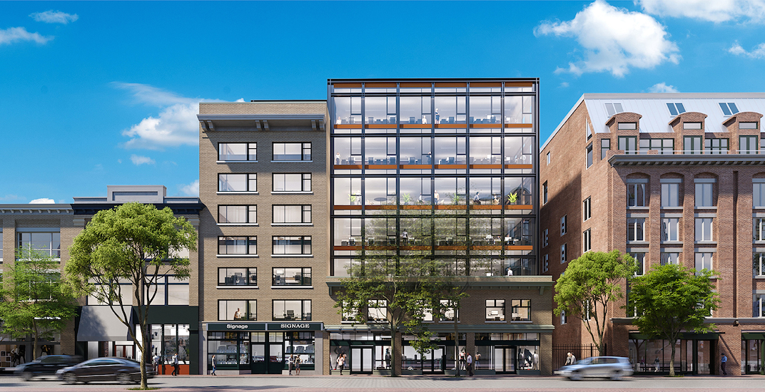 New 'glass box' office and retail building in Gastown retains heritage structures