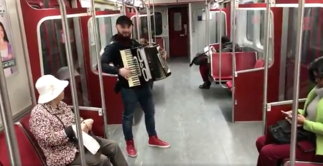 One of the 'Despacito' accordion players busted by TTC