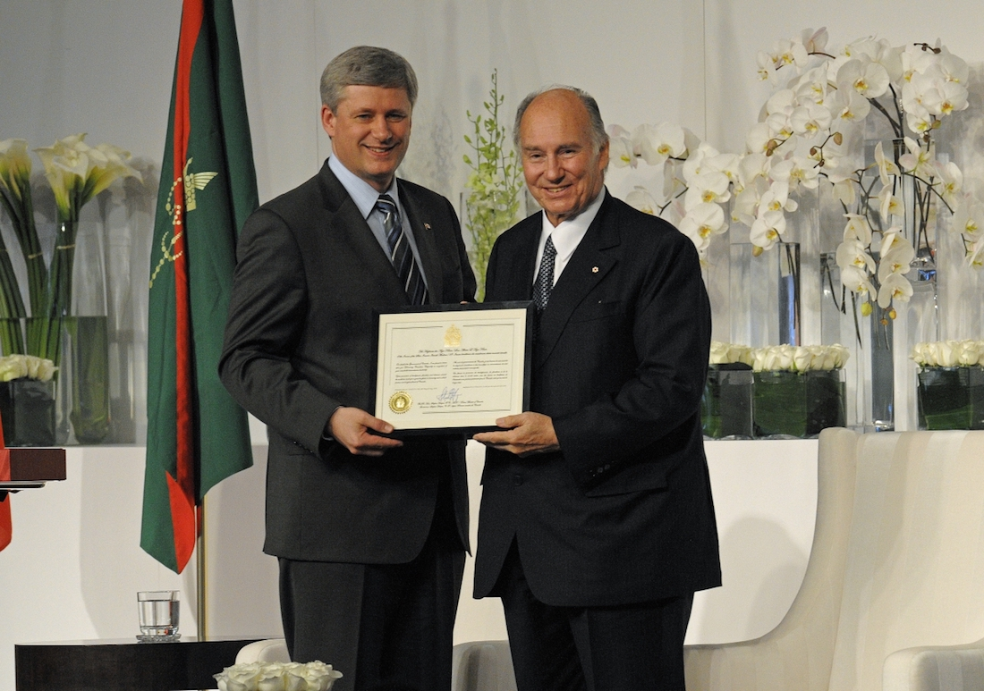 Stephen harper aga khan honorary Canadian citizenship