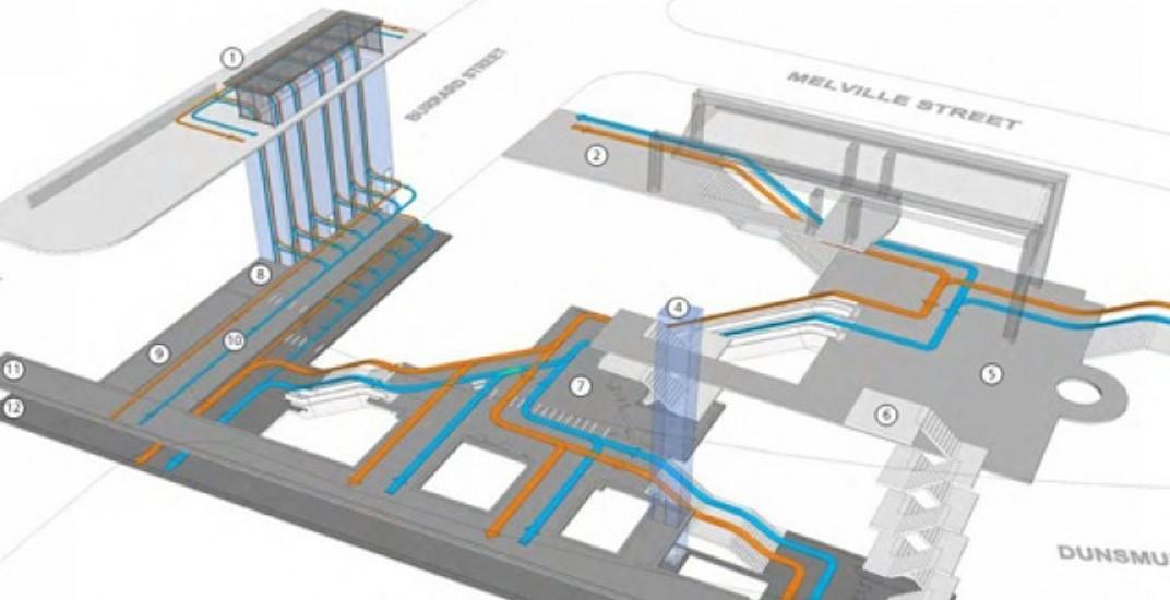 Burrard station upgrade elevators f