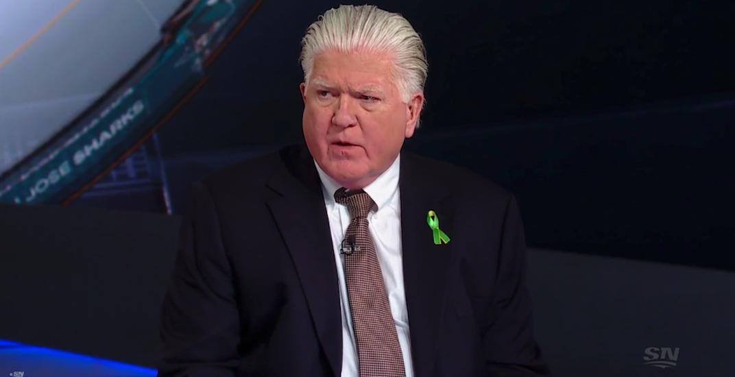 Hockey fans in shock after Brian Burke appears on TV wearing a tie