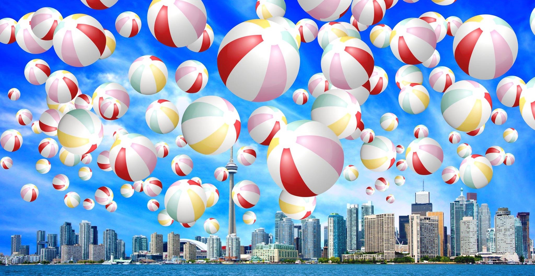 Toronto giant beach ball 1