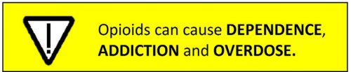 Opioid Warning prescription opioids