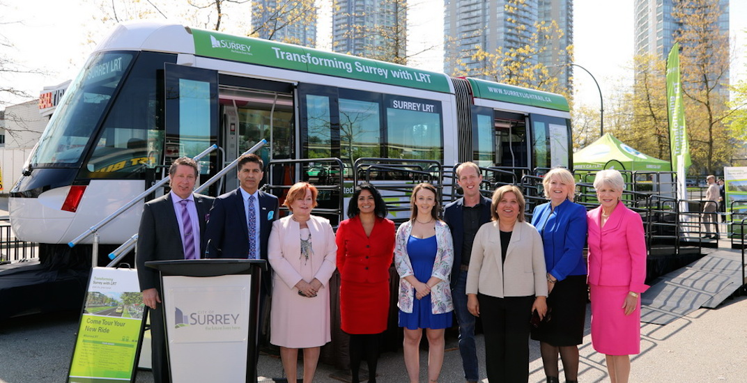 City of Surrey shows off model LRT vehicle in new touring exhibition