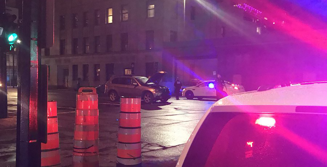 Woman dragged by car during dangerous motor vehicle incident in downtown Montreal