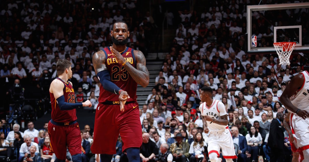 LeBron James puts on a show against the Raptors in Game 2