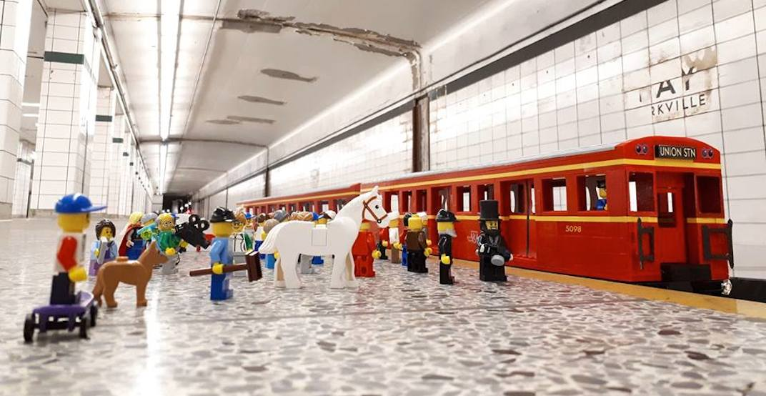 A TTC Lego exhibit will be on display in abandoned Bay Lower Station