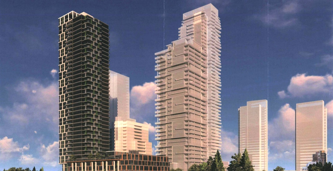 Three towers up to 40 storeys proposed for Coquitlam (RENDERINGS)