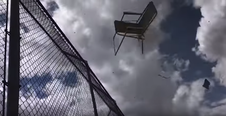 Dust devil tears up softball game in Vulcan, Alberta (VIDEO)