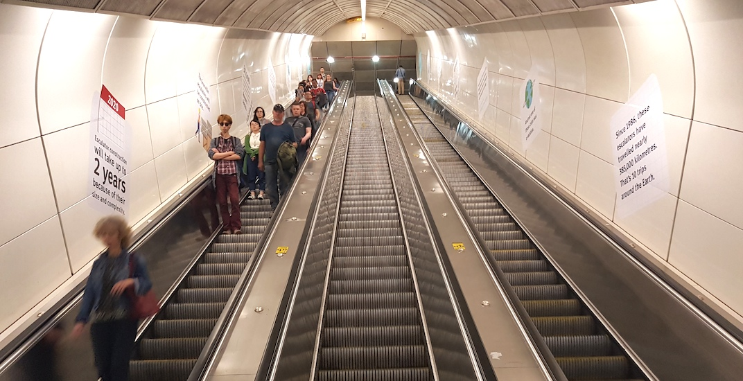 Granville Station's super-tall escalators completely closed for next 24 months