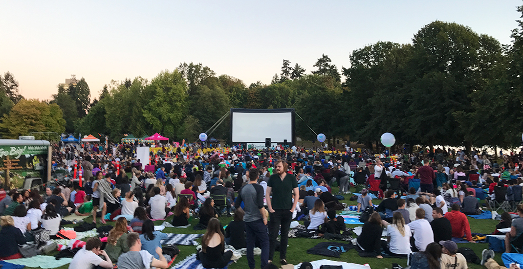 Fresh air cinema stanley park outdoor movies