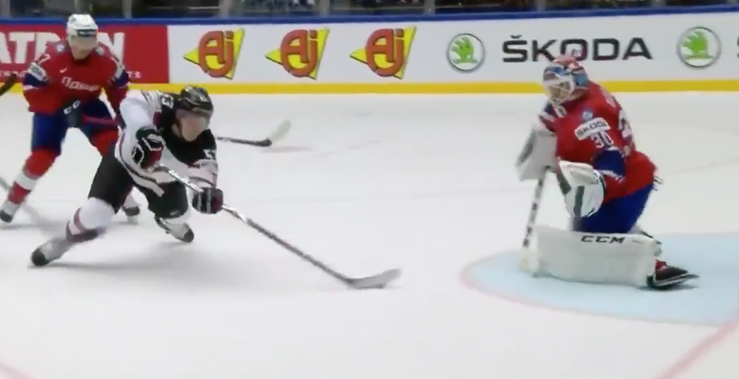 Bo Horvat scores gorgeous goal for Canada at World Championships (VIDEO)