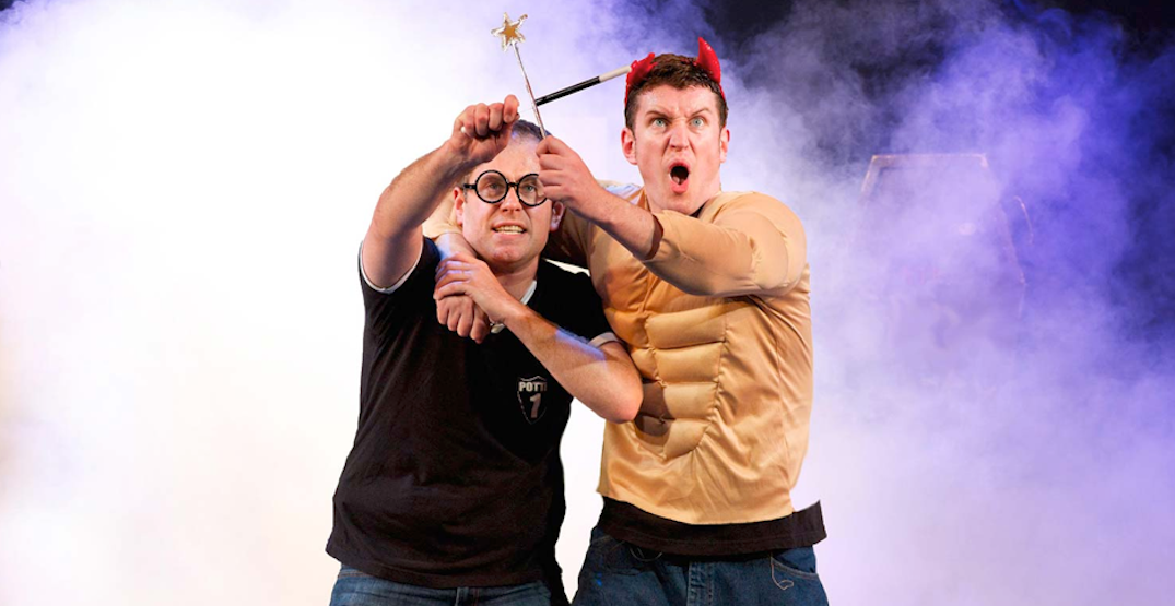 Two actors cover the complete Harry Potter series in 70 minutes