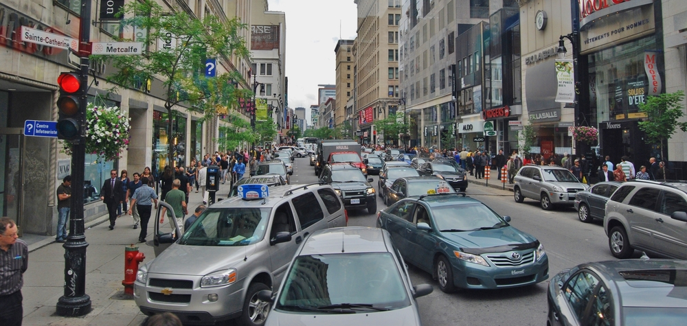 Quebec truck drivers force traffic jams in a province-wide protest