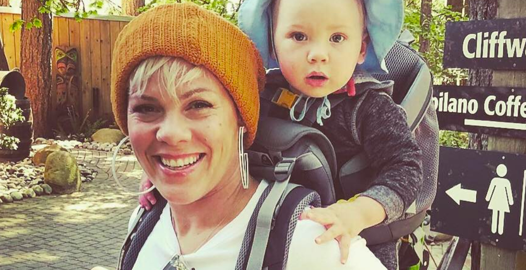 P!nk spotted at Capilano Suspension Bridge after Vancouver concert