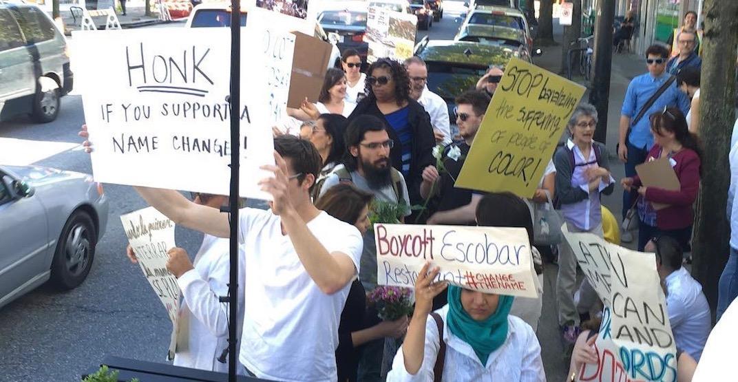 Escobar protests