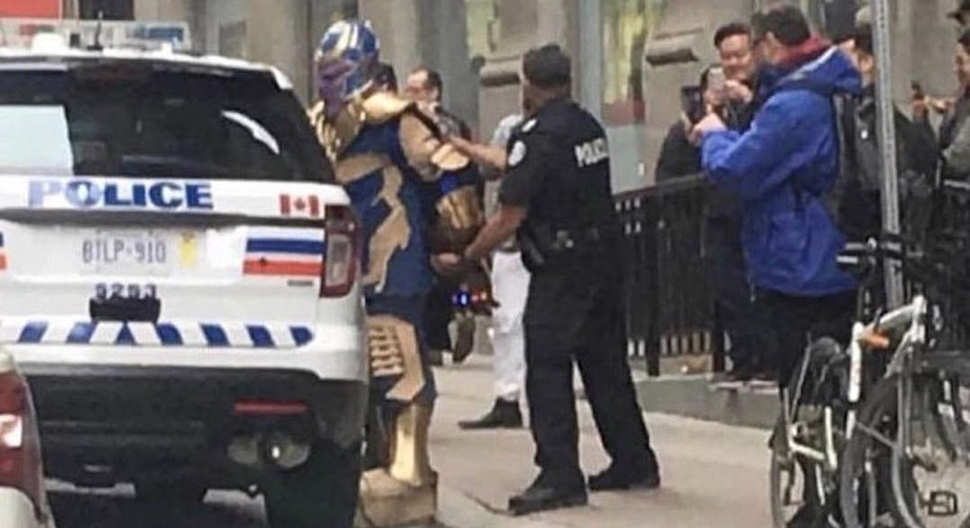 Pictures of Toronto Police arresting Thanos are going viral (PHOTOS)