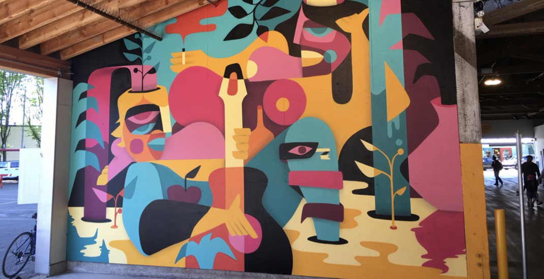 9 new colourful murals unveiled at Granville Island (PHOTOS)