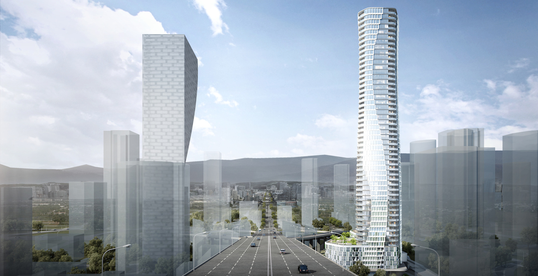 'Gateway' tower into downtown proposed next to Granville Bridge (RENDERINGS)