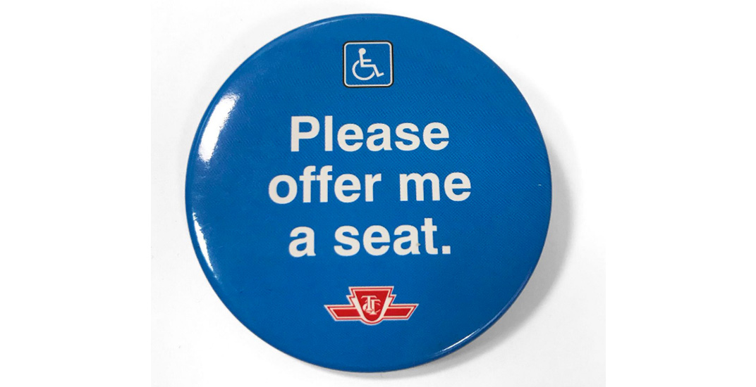 Ttc please offer me a seat button transit