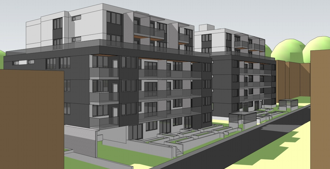 2 rental housing buildings proposed for southern end of Oak Street in Vancouver