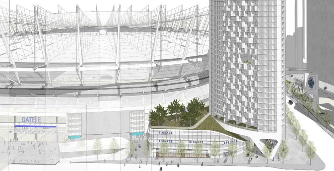 Revised design for landmark skyscraper proposed for BC Place Stadium