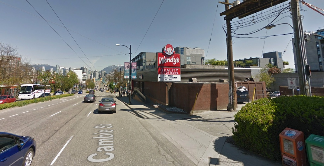 Wendy's at the corner of Cambie and Broadway listed for sale for potential redevelopment