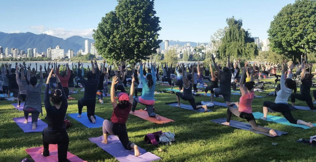 You can enjoy FREE outdoor yoga in Vancouver all summer long