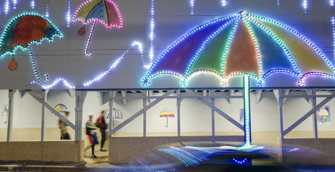 These giant art installations by kids are lighting up Metrotown (PHOTOS)