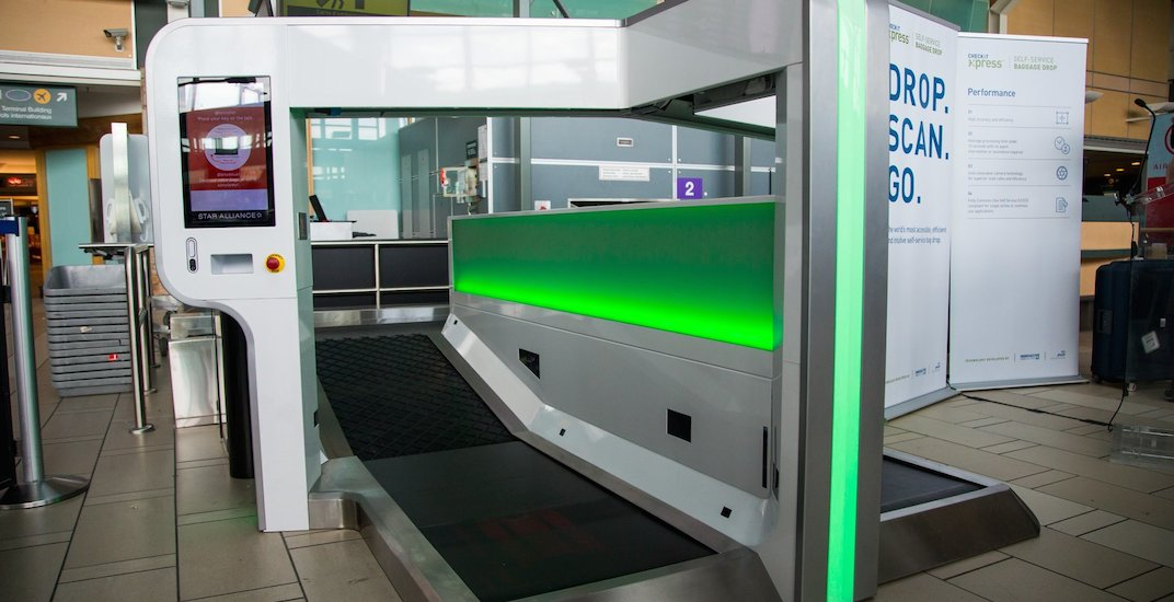 Self-serve baggage drop system launched at Vancouver International Airport