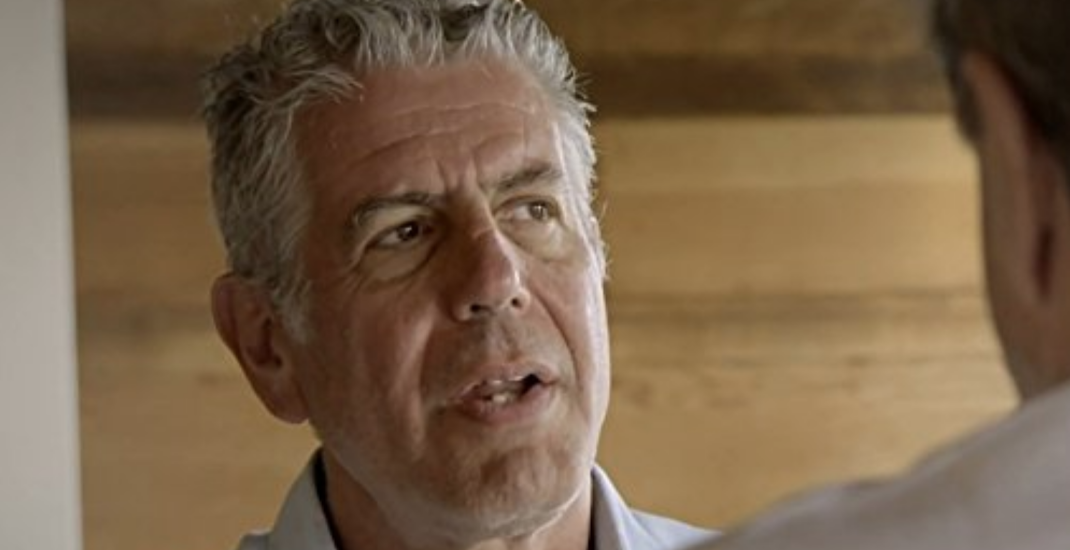 Anthony Bourdain isn't fed up with Canada, just Canadian media