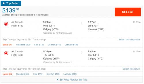 Calgary to Kelowna