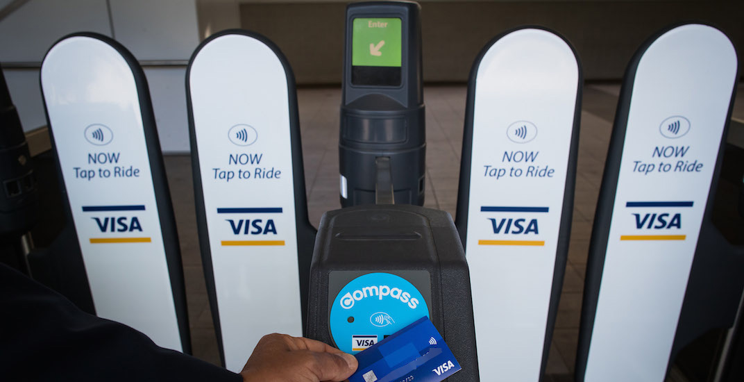 Visa compass card fare gate translink f