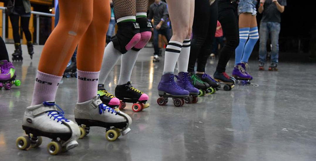 A pop-up roller disco is taking over Robson Square this weekend