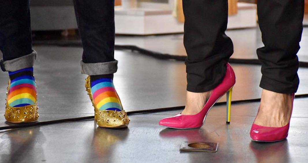 Men are walking in heels to end violence against women in Toronto next week