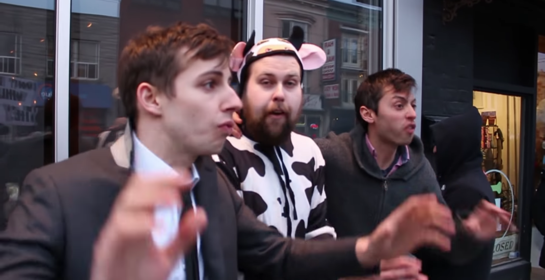 Toronto comedy troupe infiltrates vegan protests at Antler restaurant