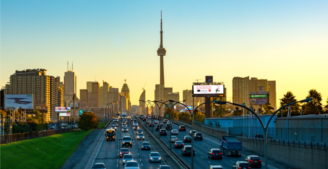 The Gardiner Expressway will be closed all weekend