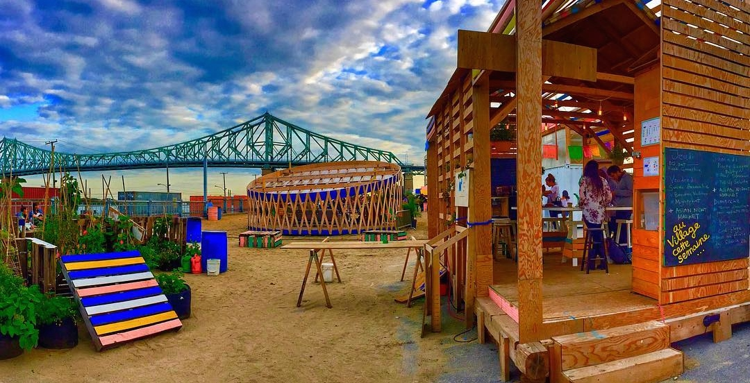 Montreal's FREE beachside village opens for the season this month