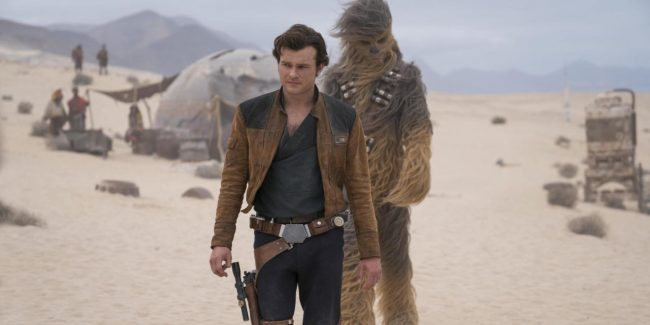Han Solo and Chewy meet in Solo: A Star Wars Story.
